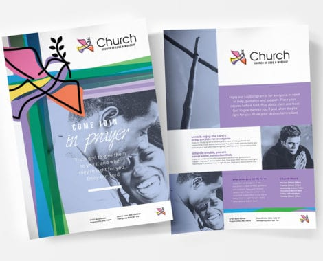 A4 Modern Church Poster Templates