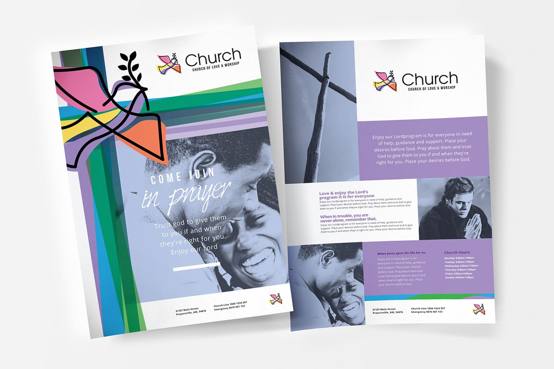 A4 Modern Church Poster Templates