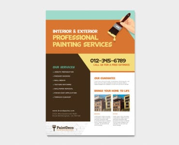 A4 Painter & Decorator Poster Template