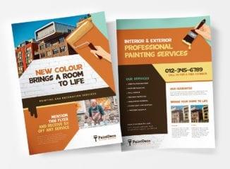 A4 Painter & Decorator Poster Templates