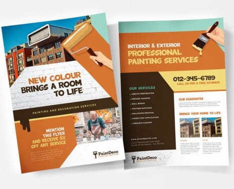 A4 Painter & Decorator Poster Templates