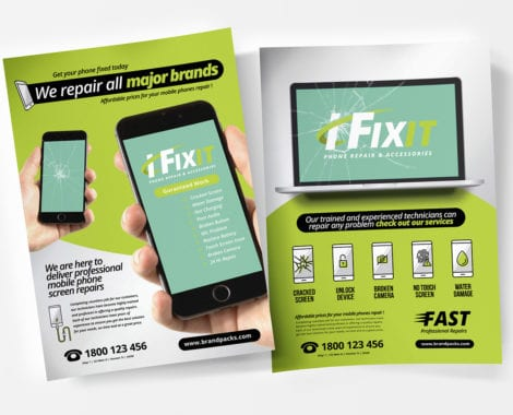 A4 Phone Repair Shop Poster / Advertisement Template