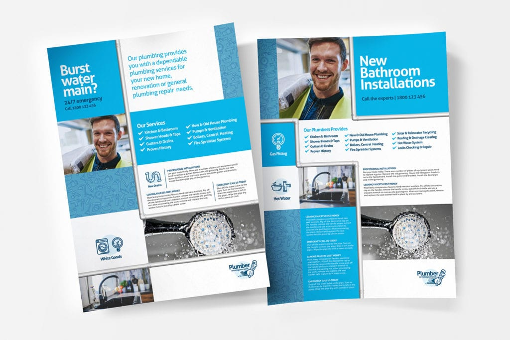 A4 Plumbing Service Poster Template