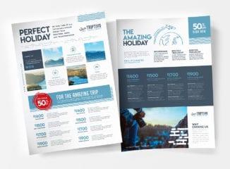 A4 Travel Company Poster / Advertisement Template