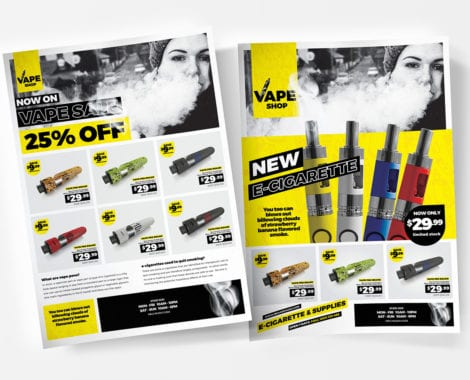 A4 Vape Shop Poster Templates