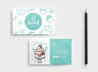 Cake Shop Business Card Template