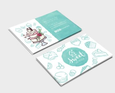 Cake Shop Business Card Template