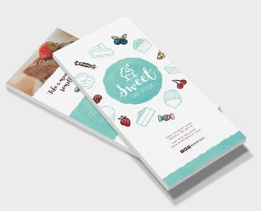 Cake Shop DL Rack Card Template