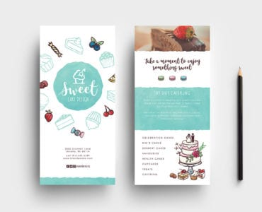 Cake Shop DL Rack Card Template