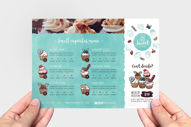 cake shop flyer template in psd  ai  u0026 vector