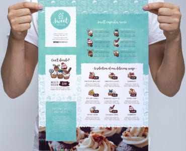 Cake Shop Poster Template