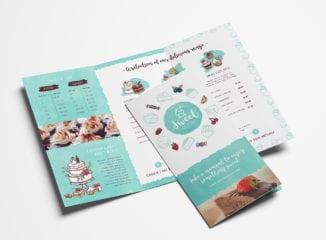 Cake Shop Tri-Fold Menu Template