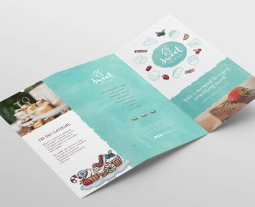 Cake Shop Tri-Fold Menu Template