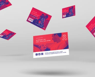 Cancer Charity Business Card Template