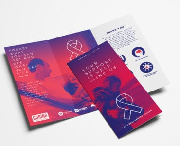 Cancer Charity Tri-Fold Brochure Template