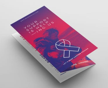Cancer Charity Tri-Fold Brochure Template Front