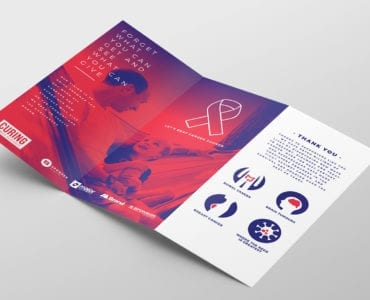 Cancer Charity Tri-Fold Brochure Template Inside