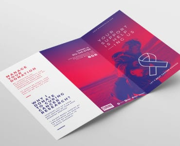 Cancer Charity Tri-Fold Brochure Template Outside