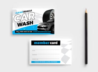 Car Wash Business Card Template