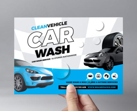 Car Wash Tri Fold Brochure Template In Psd Ai Vector Brandpacks