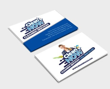 Cleaning Service Business Card Template