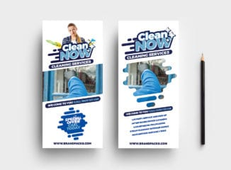Cleaning Service DL Rack Card Template