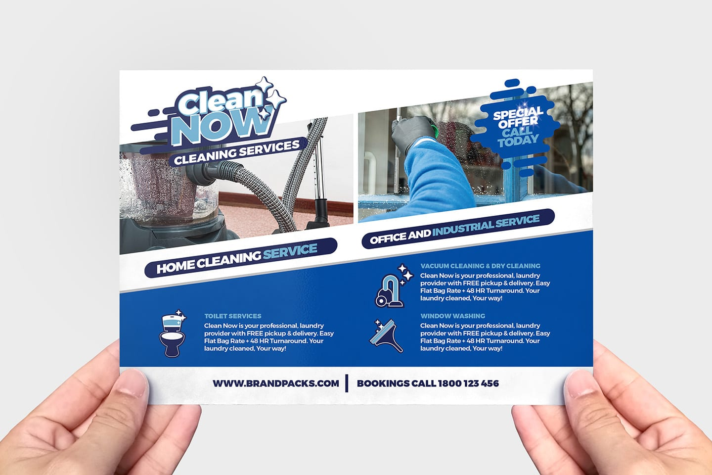 cleaning service flyer template in psd  ai  u0026 vector