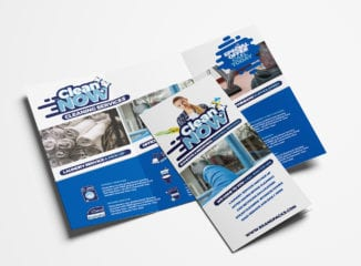 Cleaning Service Tri-Fold Brochure Template