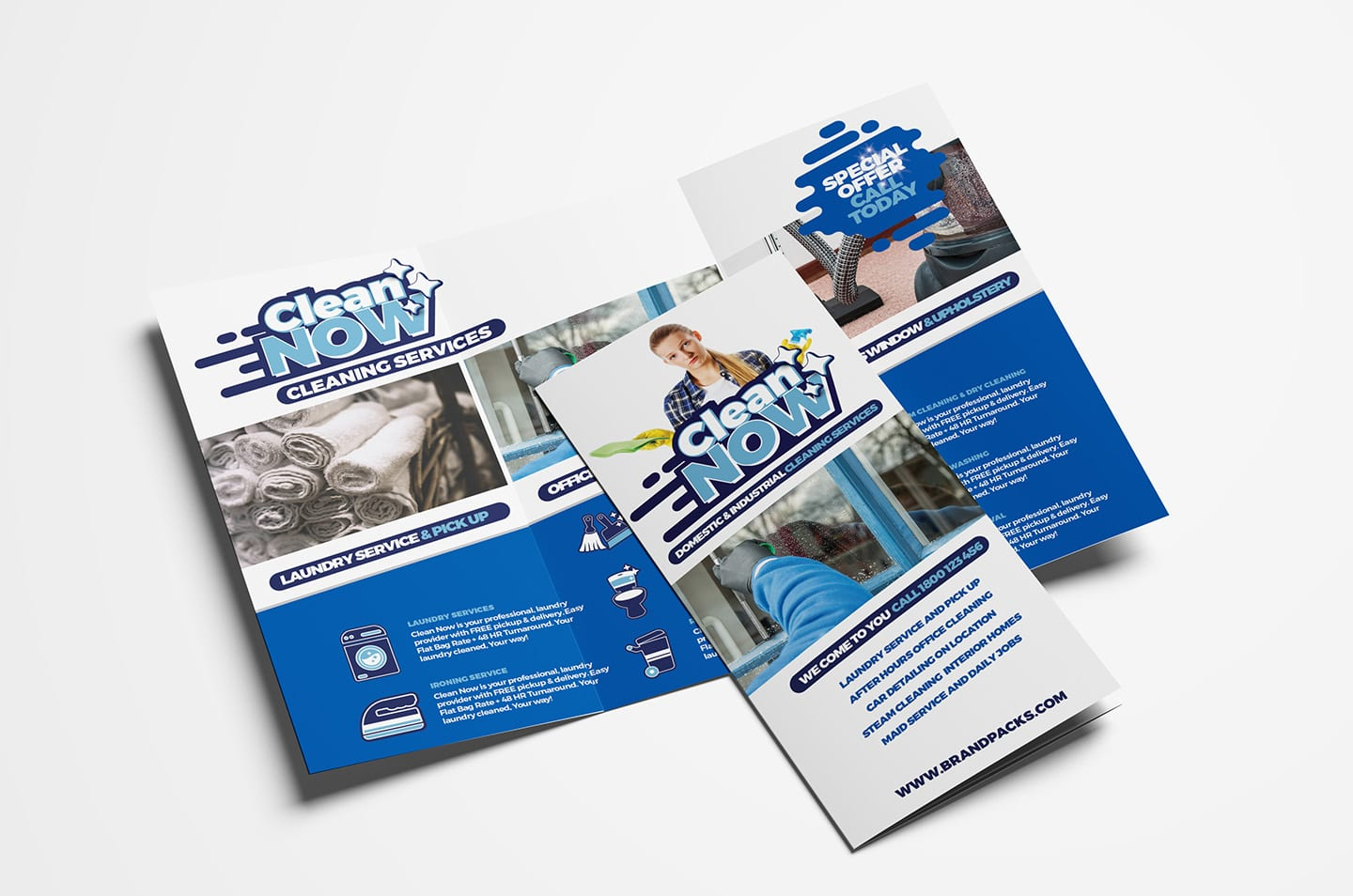 cleaning service trifold brochure template in psd  ai