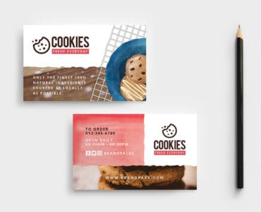 Cookie Shop Business Card Template