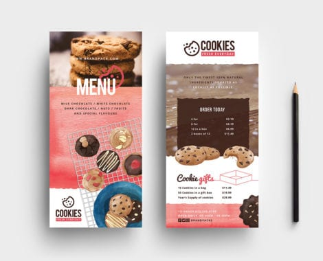 Cookie Shop DL Card Template