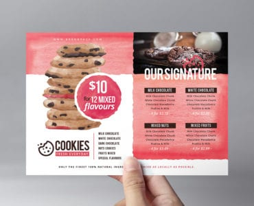 Cookie Shop Flyer Template