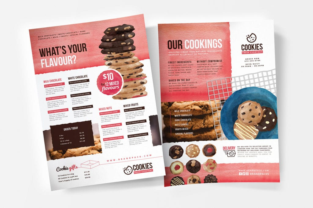Cookie Shop Menu Template