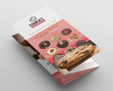 Cookie Shop Tri-Fold Menu Template