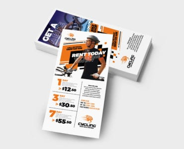 Cycling DL Rack Card Template