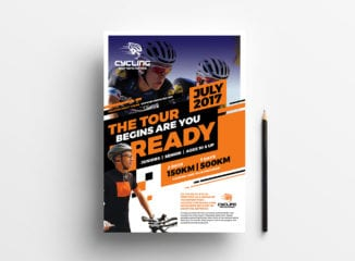 Cycling Shop Poster Template