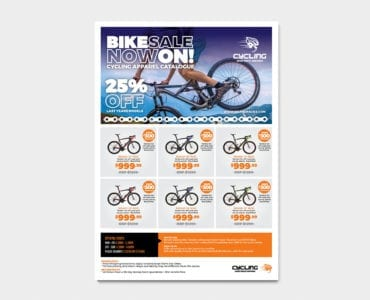 Cycling Shop Advertisement Template