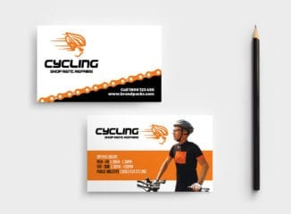 Cycling Shop Business Card Template