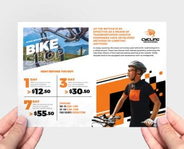 Cycling Shop Flyer Template