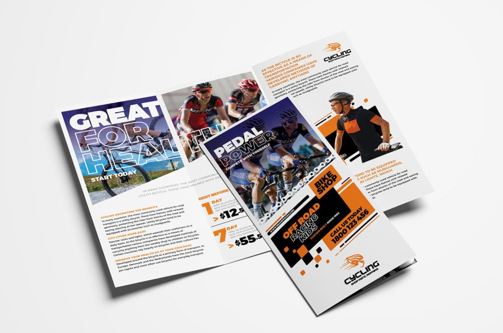 Cycling Shop Tri-Fold Brochure Template