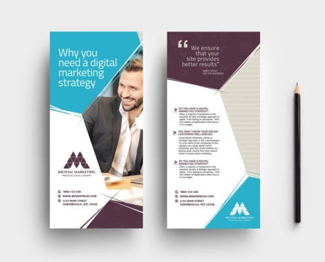 Digital Marketing DL Rack Card Template