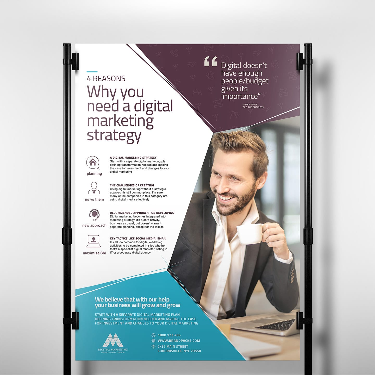 Digital Marketing Poster Template in PSD, Ai & Vector