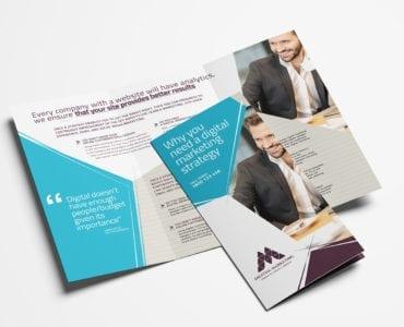 Digital Marketing Tri-Fold Brochure Template