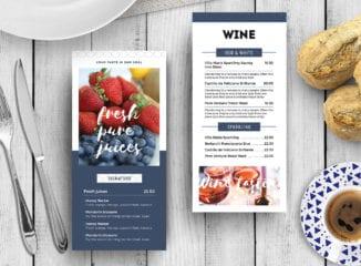 DL Breakfast / Brunch Menu Rack Card Template