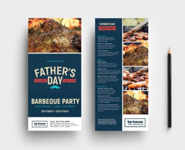 Father's Day DL Card Template in PSD, Ai & Vector