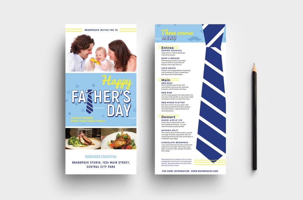 Father's Day DL Card Template