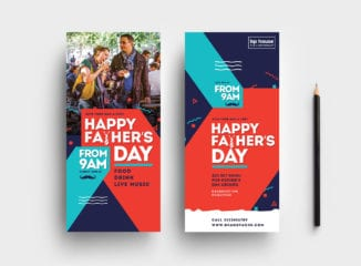 Father's Day DL Rack Card Template