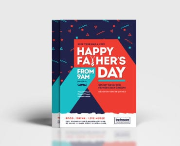 Father's Day Poster Template