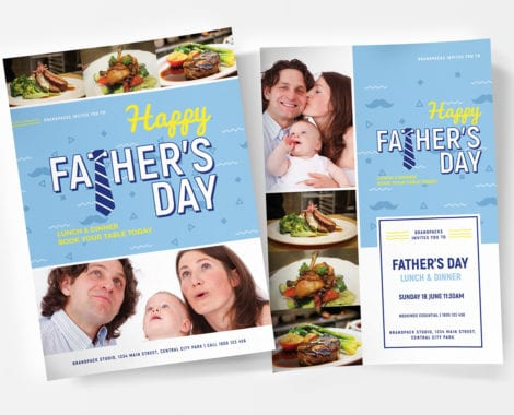 Father's Day Poster Templates
