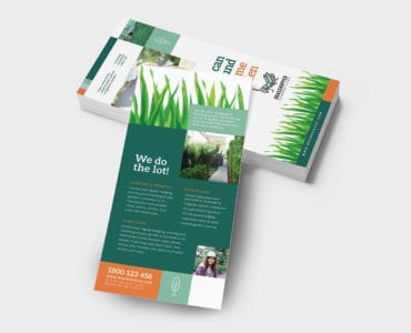 Gardener DL Rack Card Template